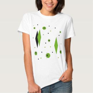 Retro Green Diamonds and Starbursts T-Shirt
