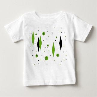 Retro Green Diamonds & Starbursts Baby T-Shirt