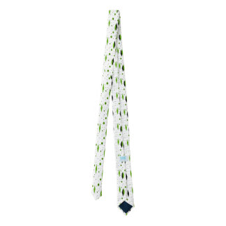 Retro Green Diamonds & Starbursts Skinny Tie