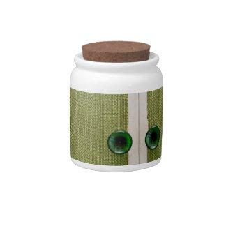 Retro green doors candy jars