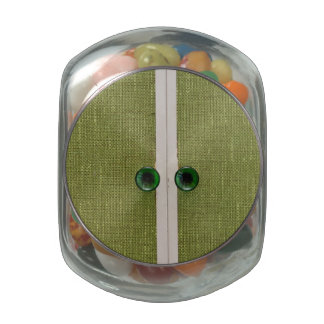 Retro green doors glass candy jars