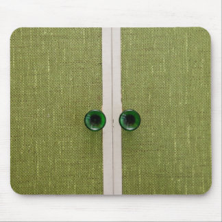 Retro green doors mouse pad