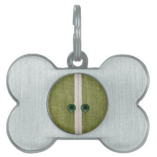 Retro green doors pet ID tag