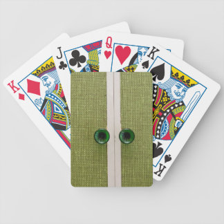 Retro green doors card deck