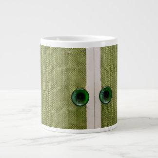 Retro green doors 20 oz large ceramic coffee mug