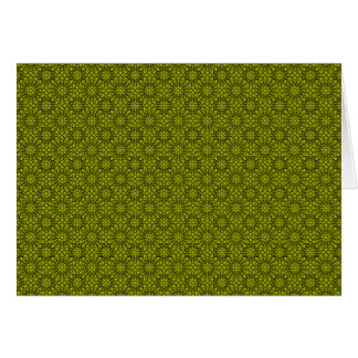 Retro Green Flowers Notecard Stationery Note Card