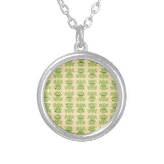 Retro Green Frog Pattern Custom Jewelry