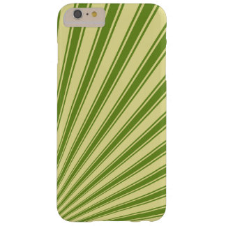 Retro Green Funky Sun Rays Background Barely There iPhone 6 Plus Case