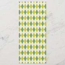 Retro Green Geometric Argyle Pattern