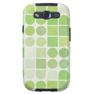 Retro Green Geometric Pattern Galaxy SIII Cover