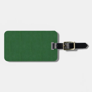 Retro Green Grunge Leather Texture Bag Tag