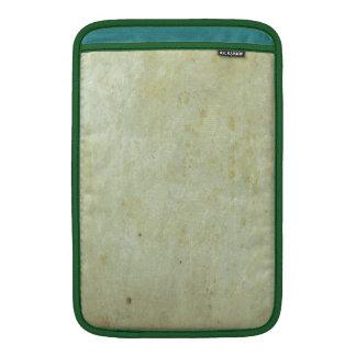Retro Green Grunge Pattern MacBook Sleeves