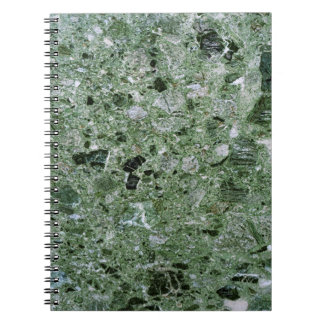 Retro Green Marble Stone Texture Pattern Notebooks