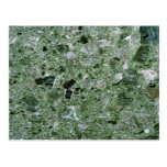 Retro Green Marble Stone Texture Pattern Postcard
