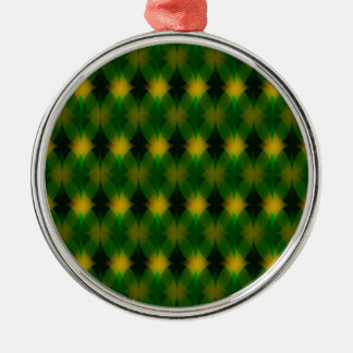 Retro green oval pattern metal ornament