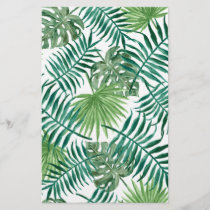 Retro Green Palm Leaves Style Pattern Design