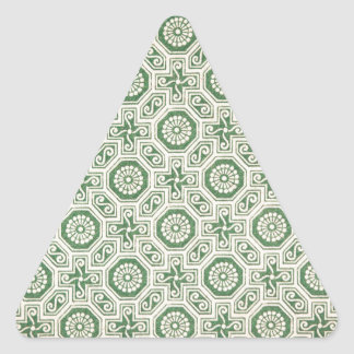 Retro green pattern aka funky indian triangle sticker