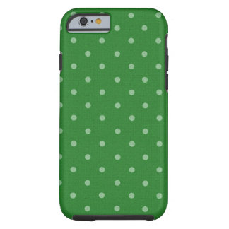 retro green polka dot iPhone 6 case
