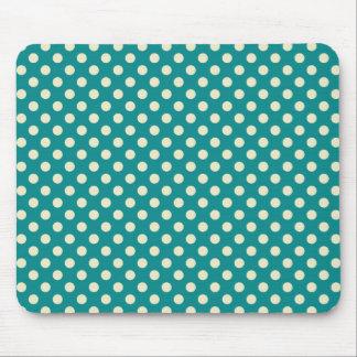 Retro Green Polka Dot Mousepad