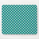 Retro Green Polka Dot Mousepad Mouse Pad