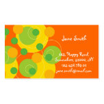 Retro Green Polka Dots Pattern Modern Fun Colorful Business Cards