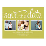 RETRO GREEN | SAVE THE DATE ANNOUNCEMENT POSTCARD