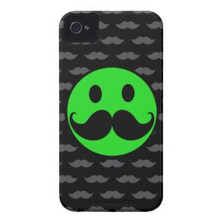 Retro Green Smiley Mustache Moustache Stache iPhone 4 Covers