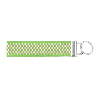 Retro Green Starbursts Wrist Keychain