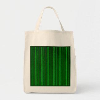Retro Green Stripe Reusable Tote Bag
