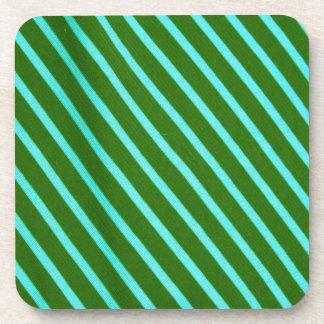 Retro Green Stripes Drink Coasters