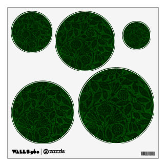 Retro Green Wedding Decor Circles Wall Decal Set