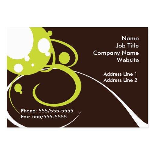Retro Green White Business Card