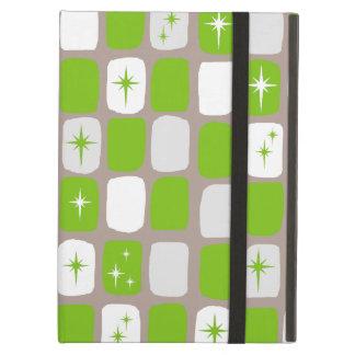 Retro Green & White Starbursts iPad Air Case