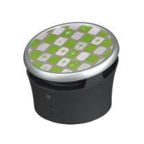 Retro Green & White Starbursts Speaker