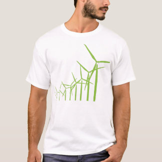 Retro Green Wind Turbine Tee