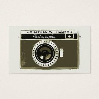 Retro Grey Camera Photography Business Cards