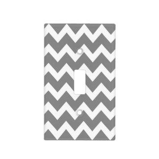 Retro GREY Zig Zag Pattern Light Switch Cover