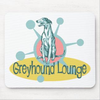 Retro Greyhound Lounge Mouse Pad