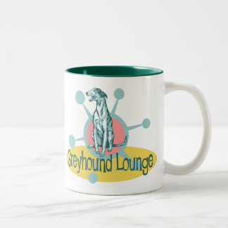 Retro Greyhound Lounge Two-Tone Coffee Mug
