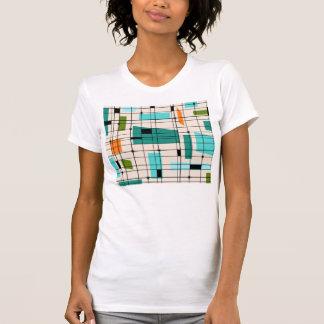 Retro Grid and Starbursts T-Shirt