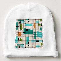 Retro Grid & Starbursts Baby Hat