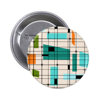 Retro Grid & Starbursts Button