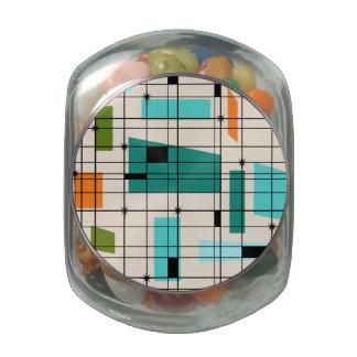Retro Grid & Starbursts Candy Jar