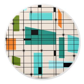 Retro Grid & Starbursts Custom Ceramic Knob