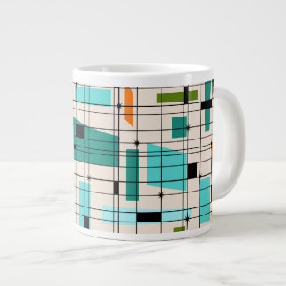 Retro Grid & Starbursts Jumbo Mug