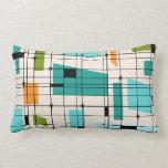 Retro Grid & Starbursts Lumbar Pillow
