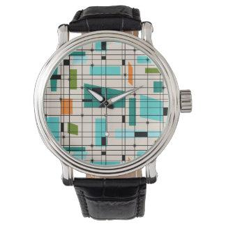 Retro Grid & Starbursts Men's Watch