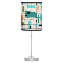 Retro Grid & Starbursts Table Lamp
