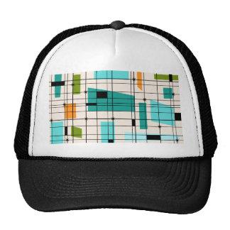 Retro Grid & Starbursts Trucker Hat