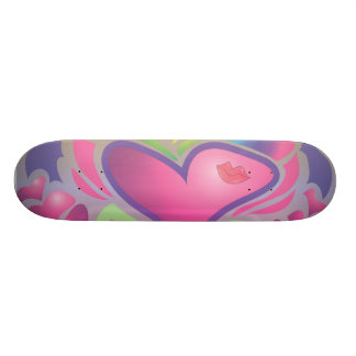 retro groovy hugs and kisses vector funk skate board deck